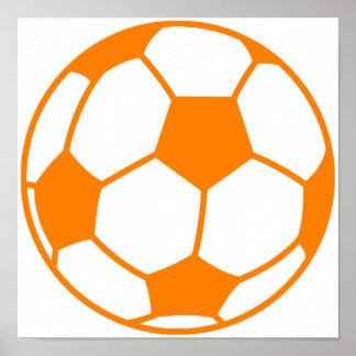 Orange & White Soccer Posters