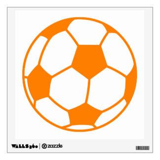 Orange White Soccer Wall Sticker
