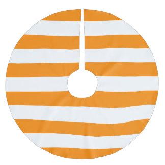 Orange & White Stripes Brushed Polyester Tree Skirt