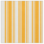 [ Thumbnail: Orange & White Stripes Fabric ]