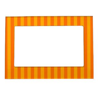 Orange & White Stripes Refridgerator Magnet Frame