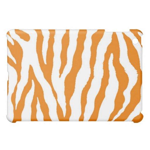 Orange/White Tiger Stripe iPad Case
