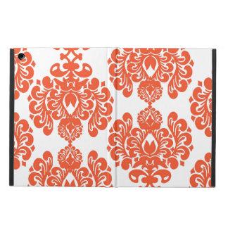 Orange White Vintage Damask Pattern iPad Air Covers