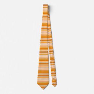 Orange White Yellow Pink Stripe Pattern Neck Tie