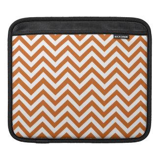 Orange & White zigzag iPad Sleeves