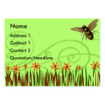 Orange Wild Flowers With Bee Business Card