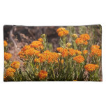 Orange Wildflowers travel accessory bag
