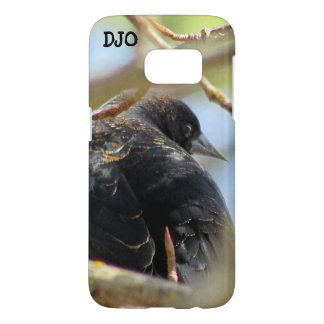 Orange Winged Black Bird Samsung Galaxy S7 Case