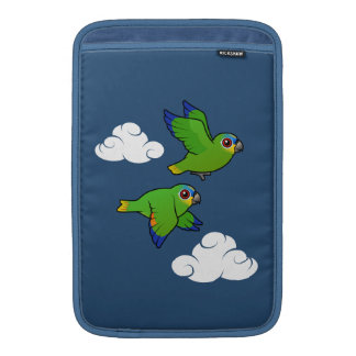 Orange-winged Parrots in Flight MacBook Sleeve