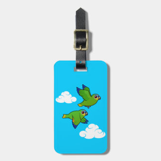 Orange-winged Parrots in Flight Luggage Tag