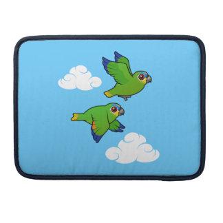 Orange-winged Parrots in Flight Sleeve For MacBook Pro