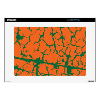 Orange with Green cracks Laptop Decals