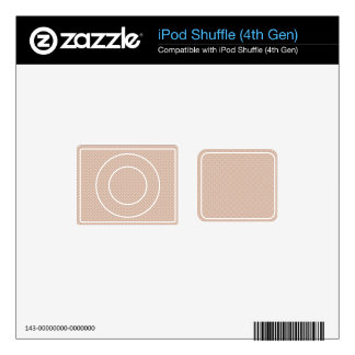 Orange With Simple White Dots Skin For iPod Shuffle 4G