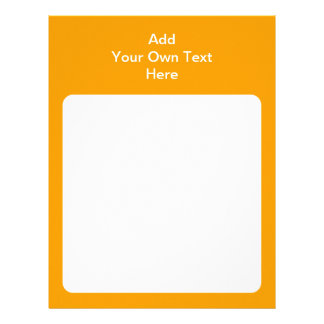 Orange with white area and text. letterhead