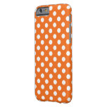 Orange With White Polka Dot Case Barely There iPhone 6 Case