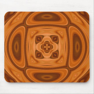 Orange wood abstract pattern mouse pad