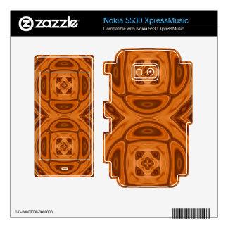 Orange wood abstract pattern nokia 5530 skin