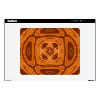 Orange wood abstract pattern skin for laptop