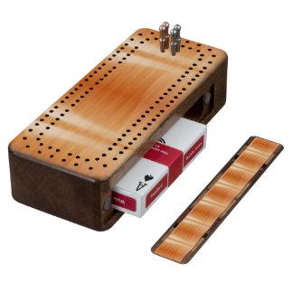 Orange Wood Cribbage Board