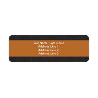 Orange & Woodgrain Professional Return Address Custom Return Address Label