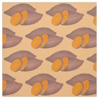 Orange Yam Sweet Potato Potatoes Foodie Fabric