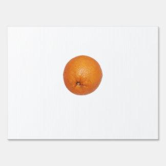 Orange Yard Sign