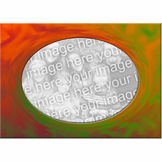 orange yellow abstract photo frame standing photo sculpture