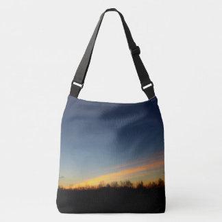Orange Yellow and Blue Crossbody Bag