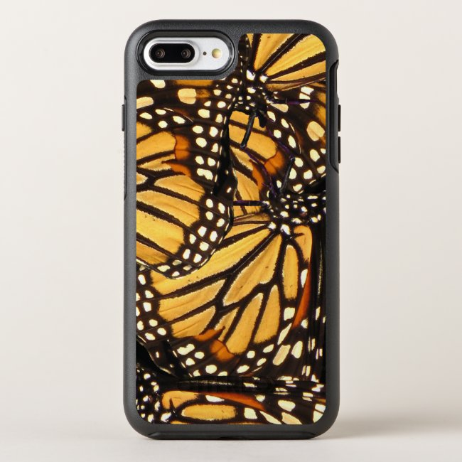 Orange Yellow Black Monarch Butterfly Abstract