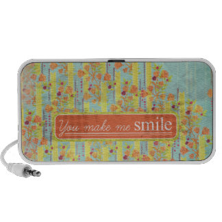 Orange Yellow Blue Roses Doodle Portable Speaker