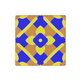 Orange Yellow Blue Spanish Marble Tile