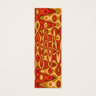 orange yellow bookmarks mini business card