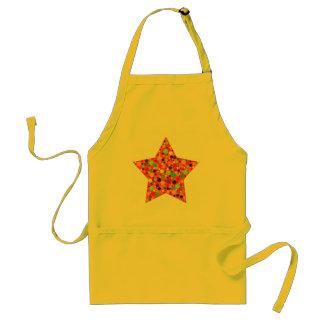 Orange & Yellow Bubble Star Apron