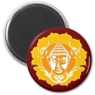 Orange & Yellow Buddha 2 Inch Round Magnet