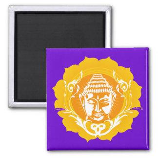 Orange & Yellow Buddha 2 Inch Square Magnet