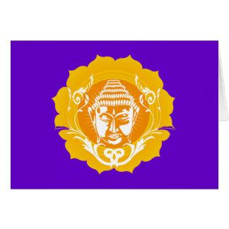 Orange & Yellow Buddha Card