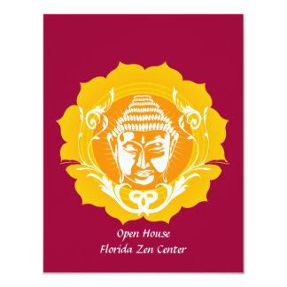Orange & Yellow Buddha 4.25x5.5 Paper Invitation Card