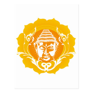 Orange & Yellow Buddha Postcard