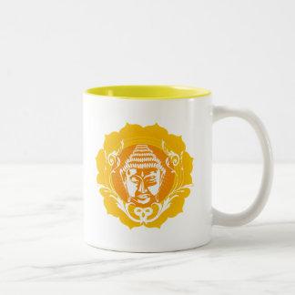 Orange & Yellow Buddha Two-Tone Coffee Mug