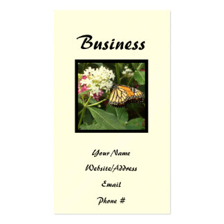 Orange Yellow Butterfly Pink White Flowers Business Card