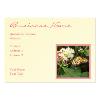 Orange Yellow Butterfly Pink White Flowers Large Business Card