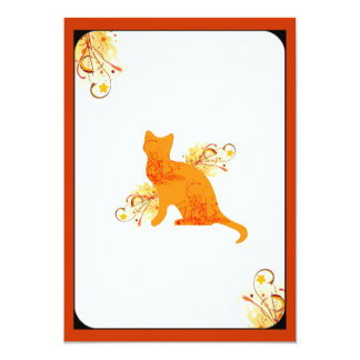 Orange & Yellow Cat Lover Invitation