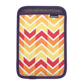 Orange Yellow Chevron Geometric Designs Color iPad Mini Sleeves