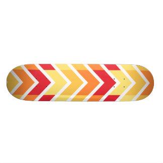 Orange Yellow Chevron Geometric Designs Color Skateboard Deck