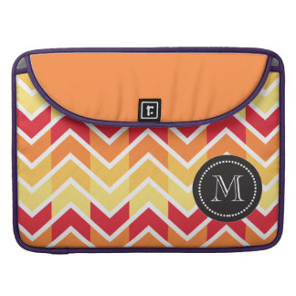 Orange Yellow Chevron Geometric Designs Color Sleeve For MacBook Pro