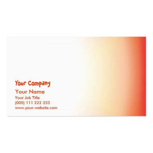 Orange yellow color harmony business cards