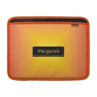 Orange yellow color harmony MacBook sleeve