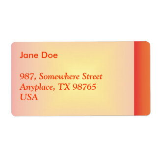 Orange yellow color harmony label