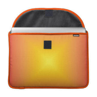 Orange yellow color harmony sleeve for MacBooks