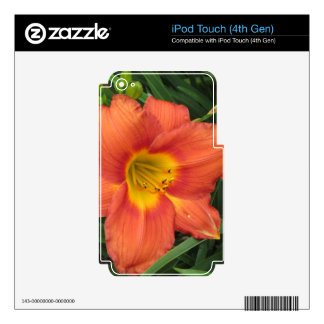 Orange/Yellow Daylilly iPod Touch 4G Skin